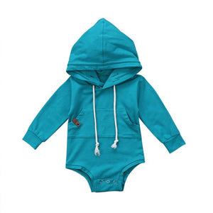 Cotton Candy Hooded Onesie (6M-24M)