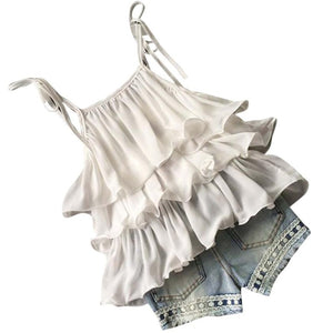 White Ruffled Set