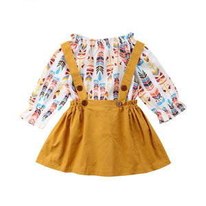 Mustard Feather Set (12M-5T)