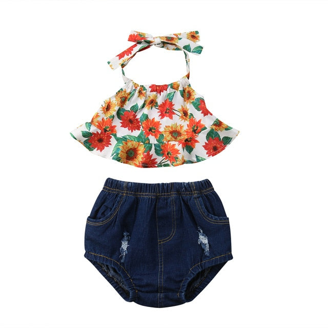 Denim Flower Set