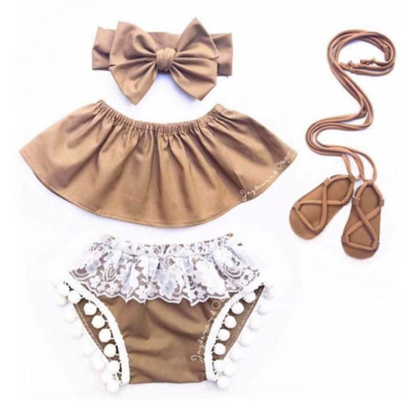 Tan Cold Shoulder Set (Shoes Sold Separate)