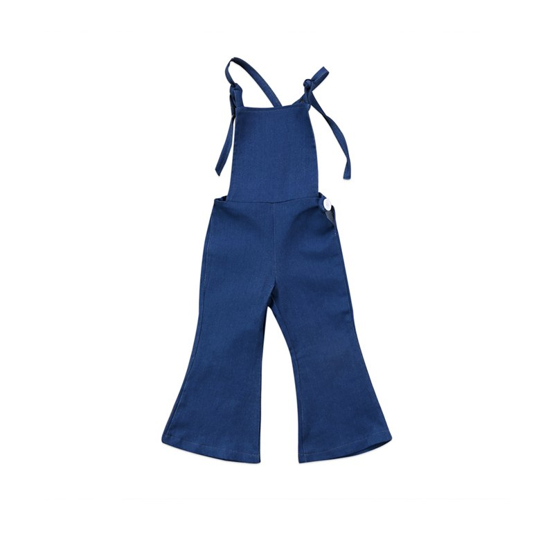 Navy Backless Overalls