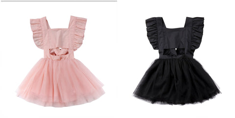 Tulle Cut-Out Dress