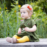 Olive Button Dress