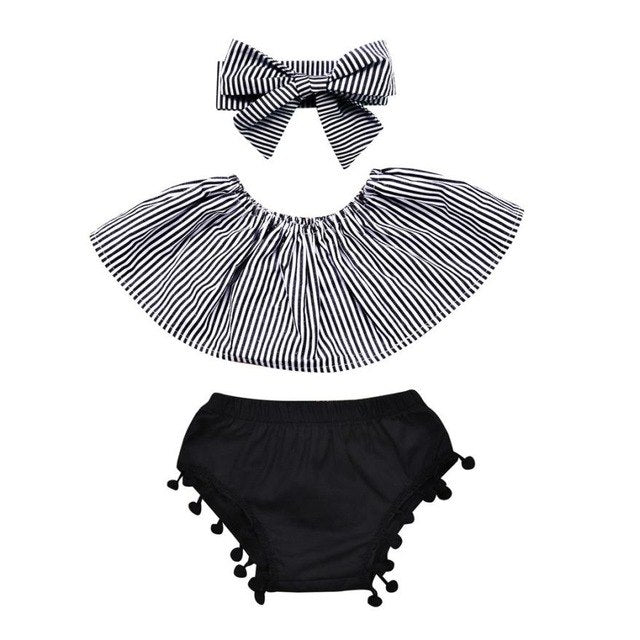 Zebra Cold Shoulder Set (6M-24M)