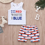 Red, White And Blue Tank Set