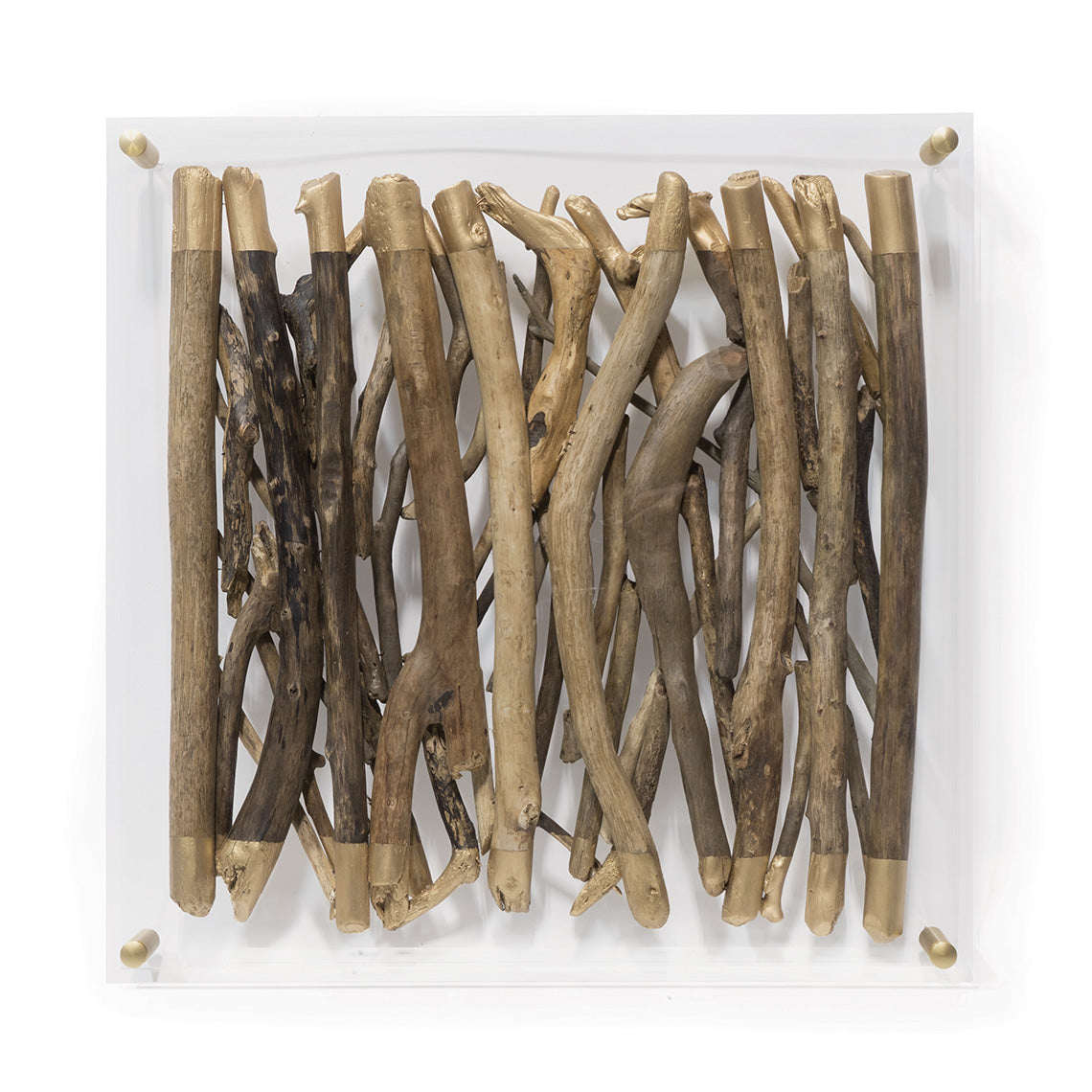 Acrylic Driftwood Wall Decor, Sq
