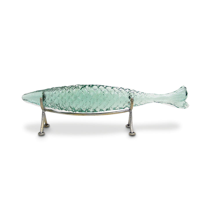 Glass Sakana Fish On Stand, Small