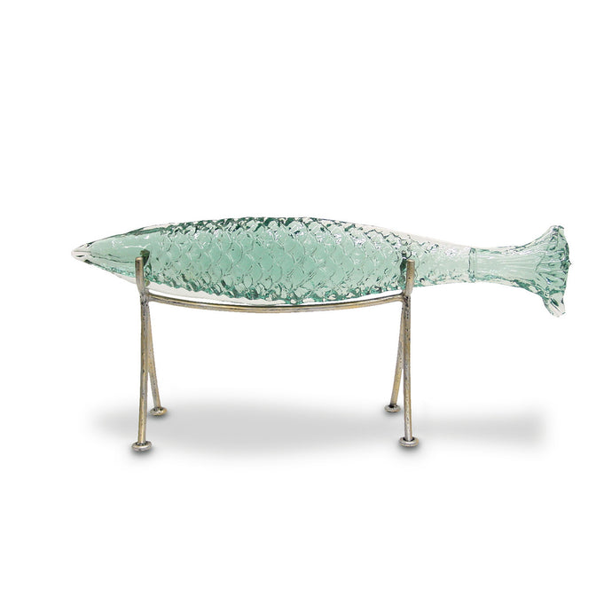 Glass Sakana Fish On Stand, Medium