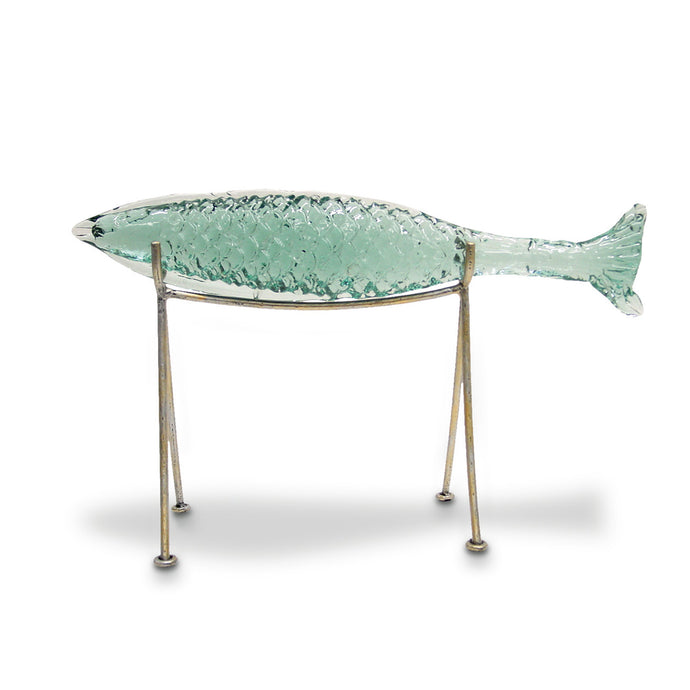 Glass Sakana Fish On Stand, Large