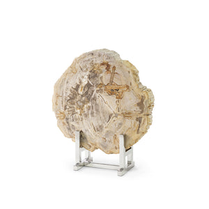 Sliced Petrified Wood W/Stand, Lg