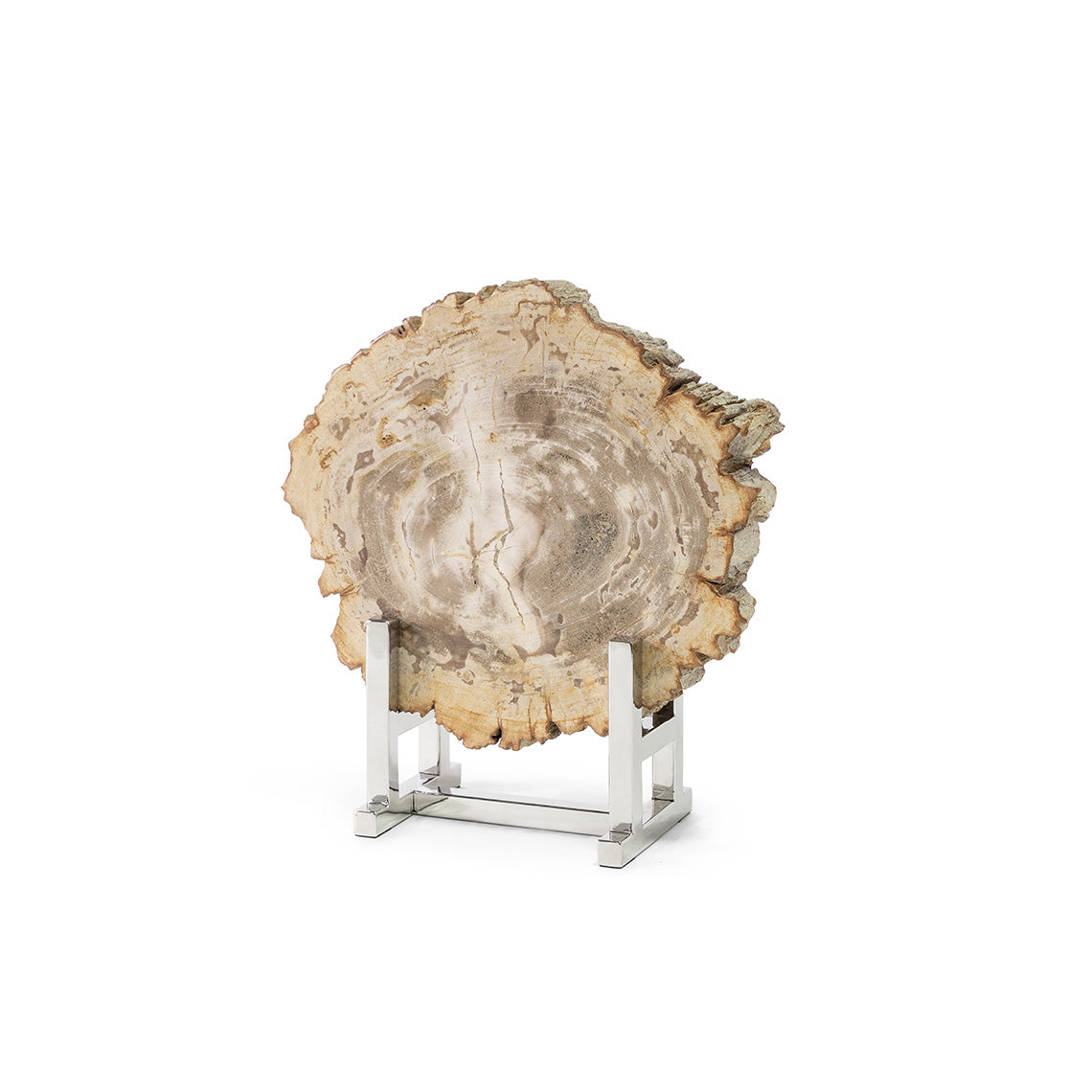 Sliced Petrified Wood W/Stand, Sm