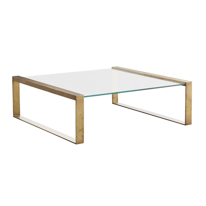 Jocelyn Coffee Table - Antique Brass