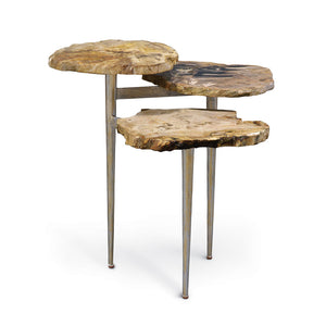 Petrified Wood Tiered Table