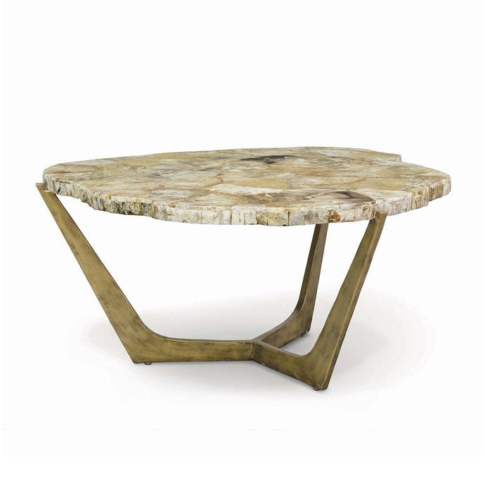 Petrified Wood Tripod Coffee Table