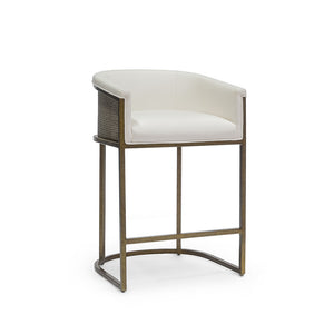 "Donovan 24"" Counter Barstool, Gold"