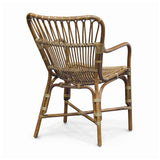 Load image into Gallery viewer, Retro Rattan Dining Arm Chair