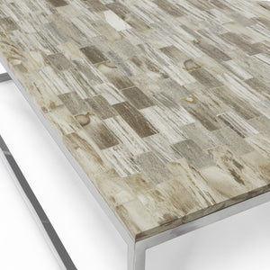 Mosaic Petrified Wood Table, Large