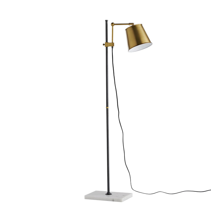 Watson Floor Lamp - Antique Brass