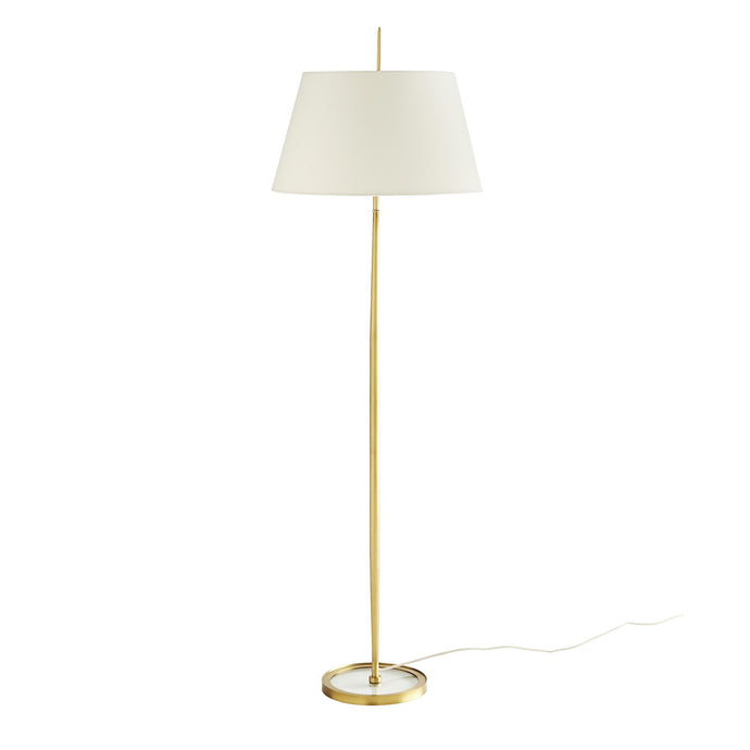 Malin Floor Lamp - Antique Brass