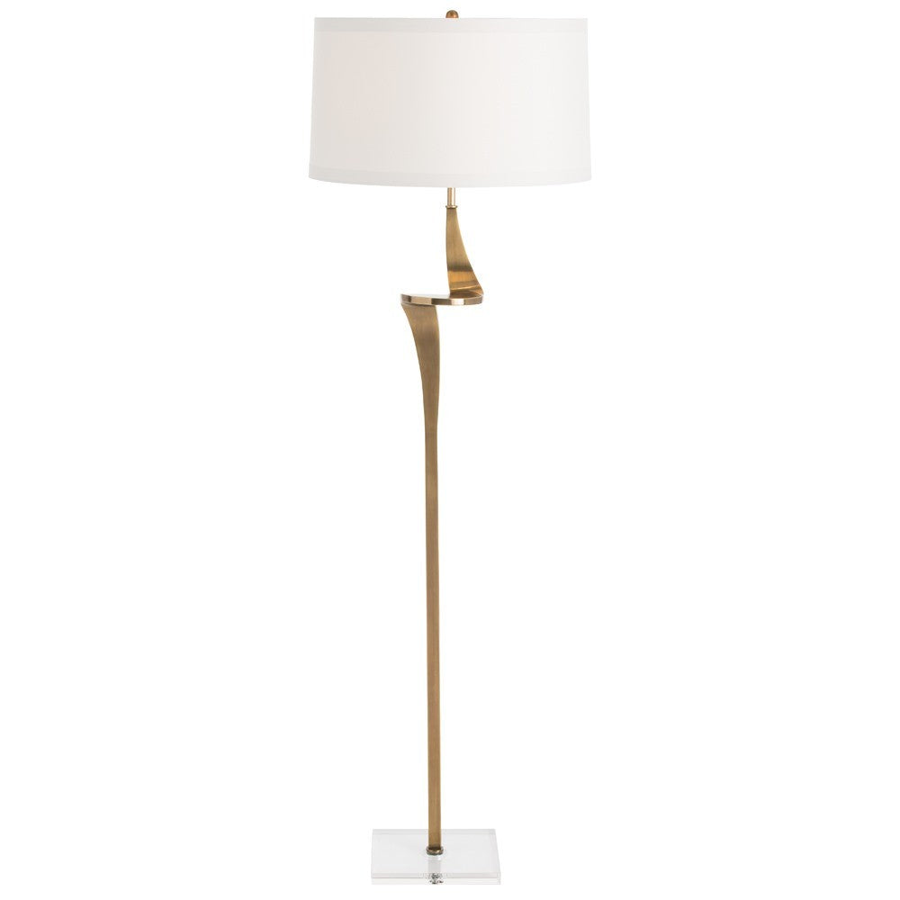 Roosevelt Floor Lamp - Antique Brass