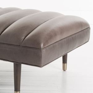 Christophe Bench Graphite Leather Grey Ash