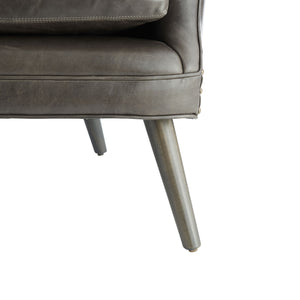 Seger Chair Graphite Leather Grey Ash