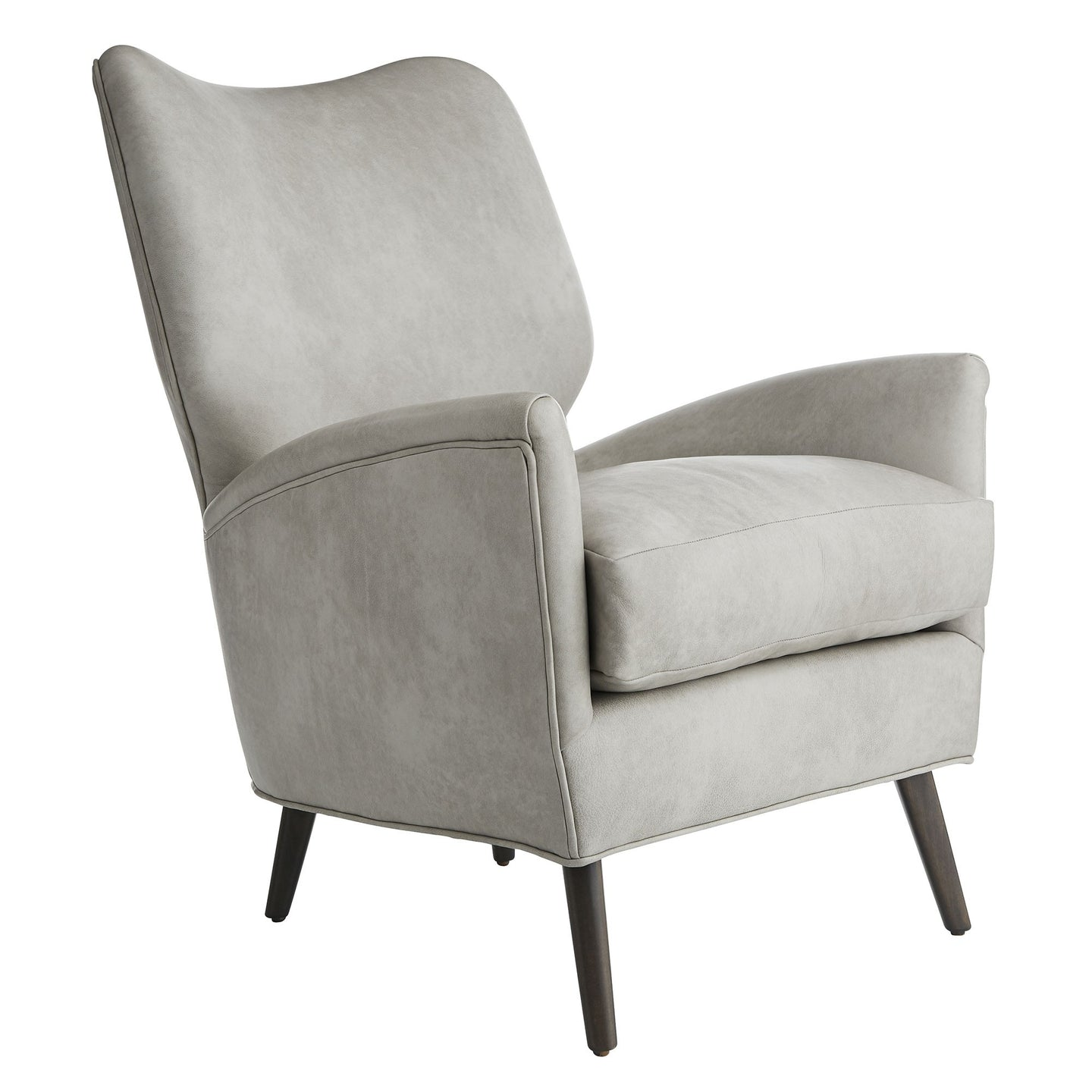 Beck Chair Stone Leather Grey Ash