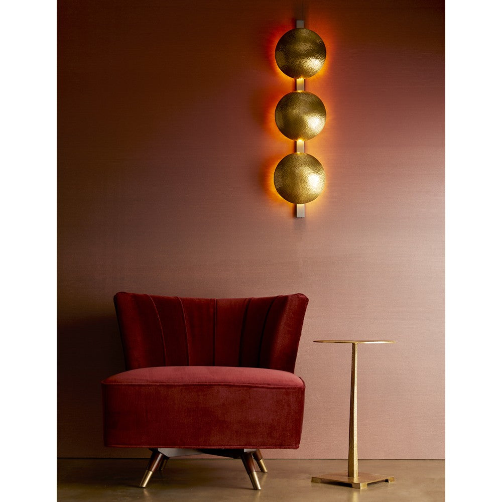 Load image into Gallery viewer, Marion Chair Bordeaux Velvet Dark Walnut