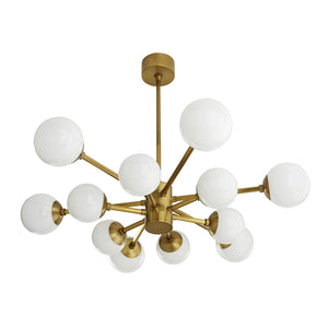 Karrington Small Chandelier - Antique Brass