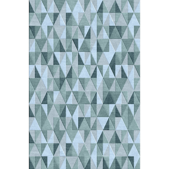 Trident Silver / Blue Rug