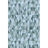 Load image into Gallery viewer, Trident Silver / Blue Rug