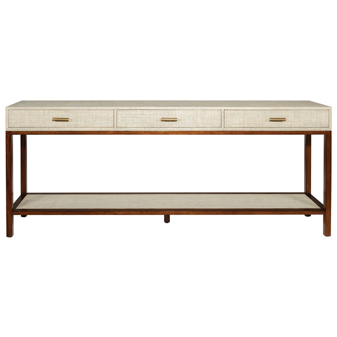 Clifton Console - Pumice - 3 Drawer