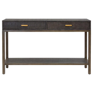 Clifton Console - Charcoal - 2 Drawer