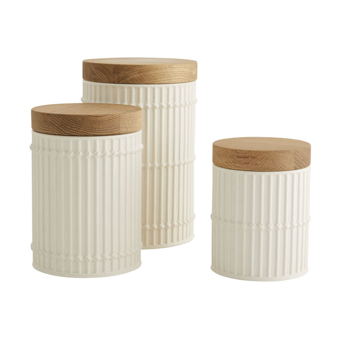 Palm Canisters Set of 3