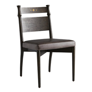 Neely Dining Chair Graphite Leather
