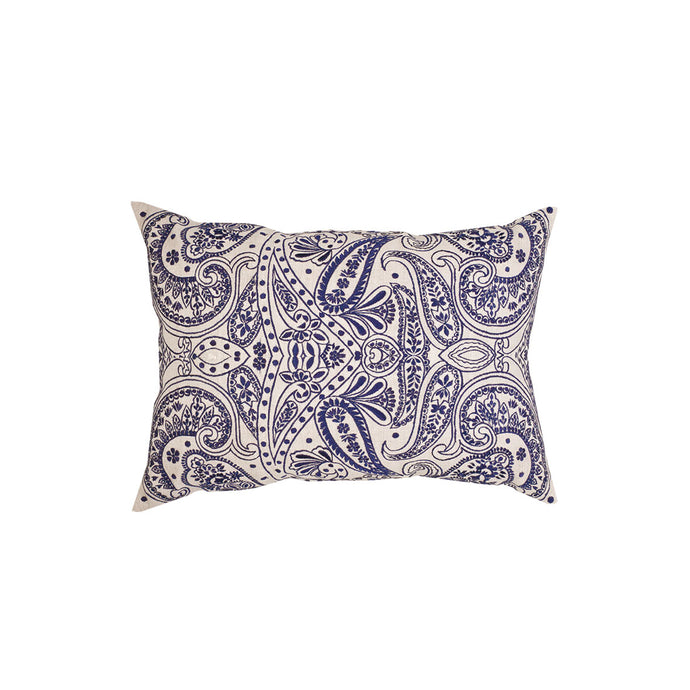 Paisley Navy Embroidery Cushion Cover