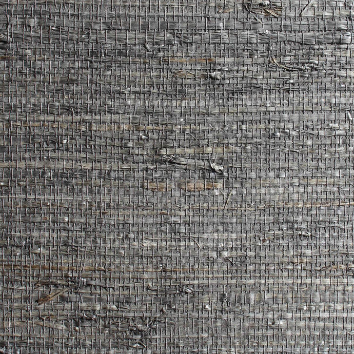 Square Check Charcoal Grassweave Wallpaper