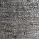 Load image into Gallery viewer, Square Check Charcoal Grassweave Wallpaper