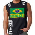 BRAZIL FIFA WORLD CUP SOCCER MMA MUSCLE SHIRT BLACK
