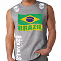 BRAZIL FIFA WORLD CUP SOCCER MMA MUSCLE SHIRT GRAY
