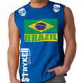 BRAZIL FIFA WORLD CUP SOCCER MMA MUSCLE SHIRT ROYAL