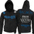 Muay Thai Fighting Adult Zip Up Hoodie Pain Is Temporary Victory Is Forever BLACK
