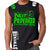 NOT 2B PROVOKED MMA MENS MUSCLE SHIRT BLACK GREEN