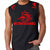 NETHERLANDS SOCCER FIFA WORLD CUP MENS MUSCLE SHIRT BLACK RED LOGO
