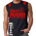 NOT 2B PROVOKED MMA MENS MUSCLE SHIRT BLACK RED