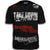 TAKEDOWN FIGHT GEAR MUAY THAI WALKOUT MMA UFC SHIRT BLACK / RED WHITE LOGOS