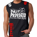 NOT 2B PROVOKED MMA MENS MUSCLE SHIRT BLACK WHITE
