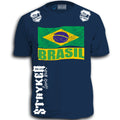 BRASIL FIFA WORLD CUP SOCCER FLAG CREST MENS SHIRT BRAZIL