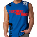 Brazilian Jiu Jitsu Stryker Muscle Sleeveless Shirt Royal Blue